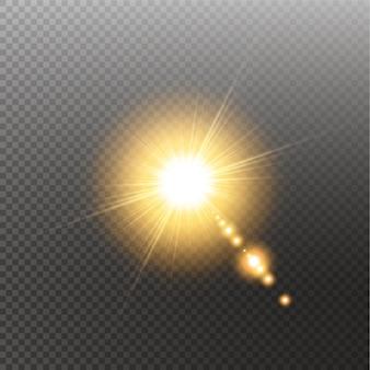 Luce solare speciale effetto luce riflesso lente.
