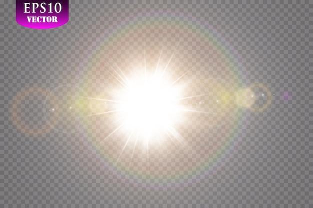Luce solare speciale effetto luce riflesso lente