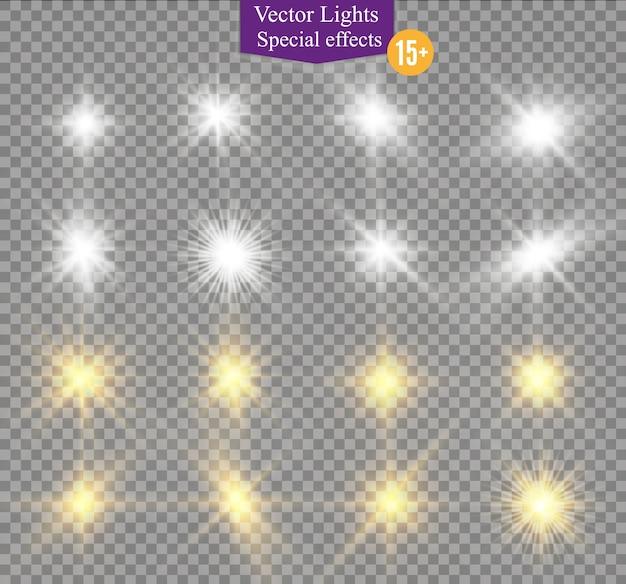 Luce solare su uno sfondo bianco illustrazione