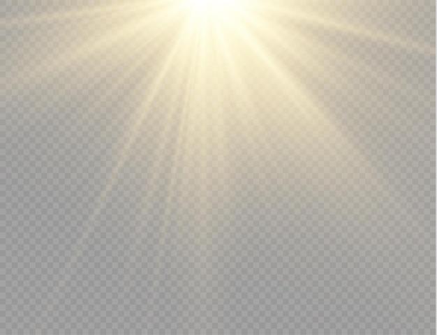 Luce solare con effetto bagliore esplosione brillante con raggi di luce