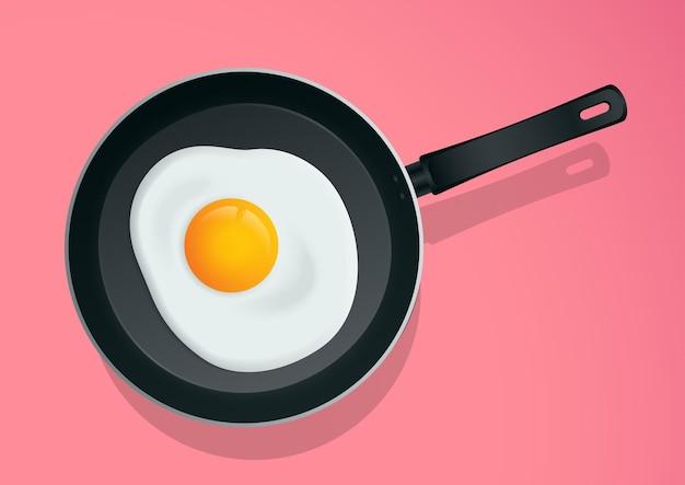 Sunny side up uovo sulla padella