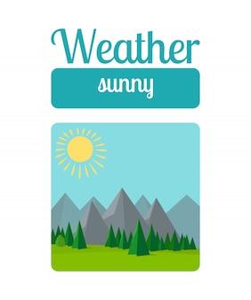 Illustrazione di tempo soleggiato