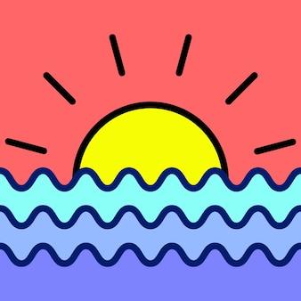 Illustrazione di sfondo tramonto e alba