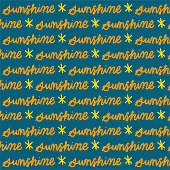 Reticolo senza giunte del testo del sole con sfondo blu