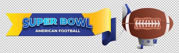 Pallone aerostatico di football americano del super bowl