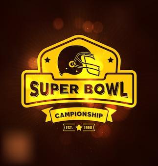 Sport campionato logo super bowl