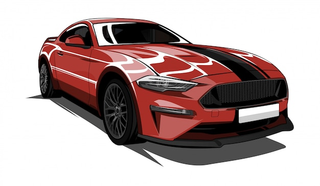 Illustrazione di super car