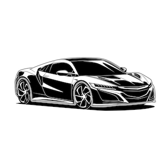 Illustrazione super car