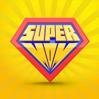 Super-mamma. logo di supermom. concetto di festa della mamma.