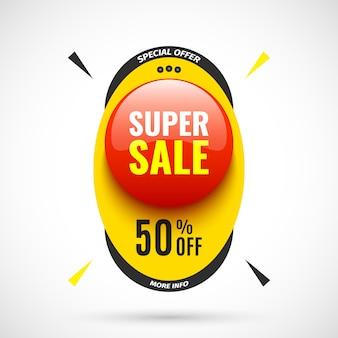 Banner di vendita super. illustrazione.