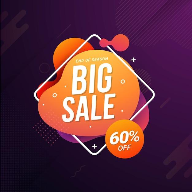 Promozione di sconto vendita flash modello banner super vendita
