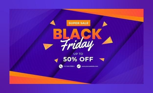 Modelli di banner super sale black friday per i social media