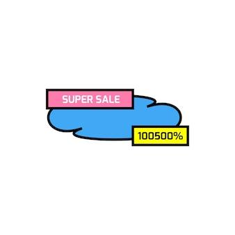 Super vendita icona colorata su sfondo bianco. illustrazione vettoriale piatto eps10.