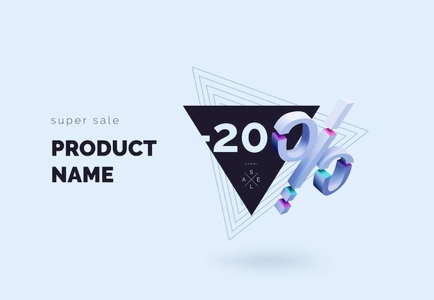 Super vendita sconto banner concetto prima schermata per sito web