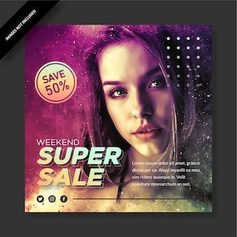 Super vendita modello instagram design