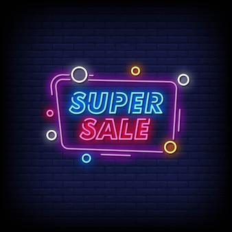 Super vendita insegne al neon in stile testo