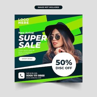 Modello di post sui social media super vendita