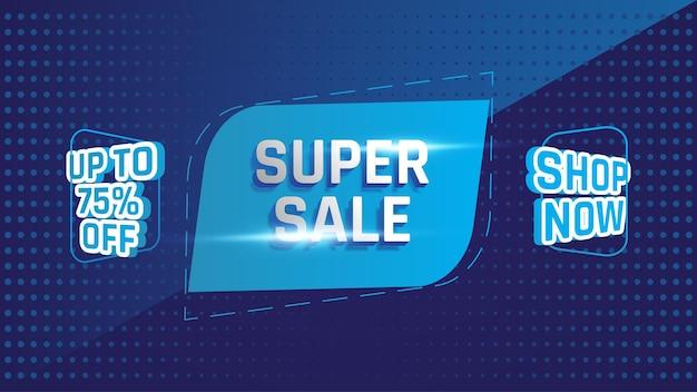 Super vendita fino a 75 di sconto sul modello di design del banner