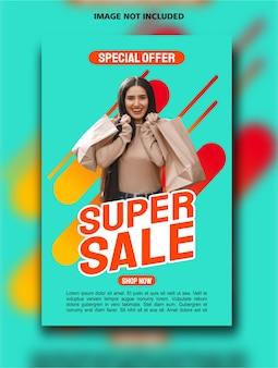 Modello di progettazione poster verticale super vendita