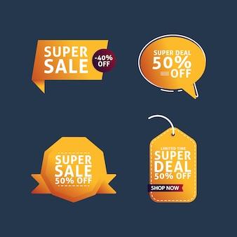 Collezione di banner super sales