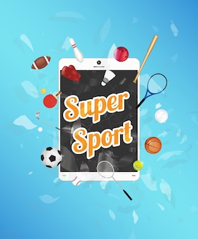 Super sport sullo schermo dello smartphone