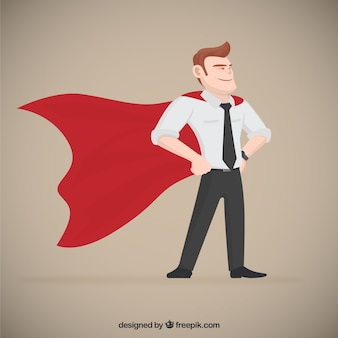 Superhero imprenditore Vettore Premium