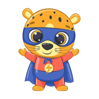 Supereroe piccolo leopardo cartoon