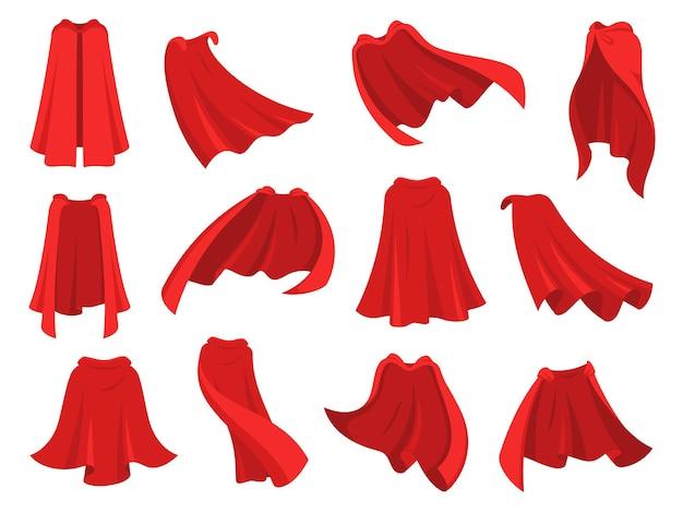Set mantello rosso da supereroe