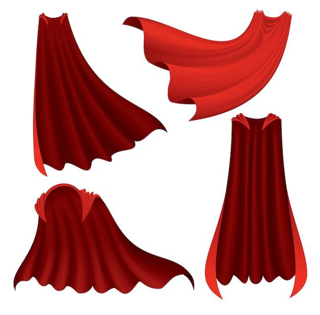 Mantello rosso del supereroe.