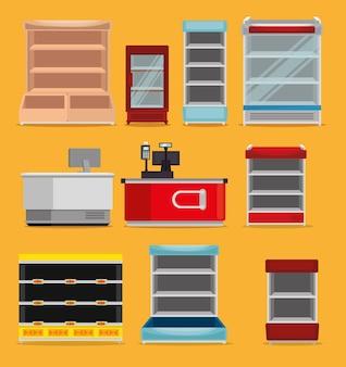 Scaffalature per supermercati con registratore automatico