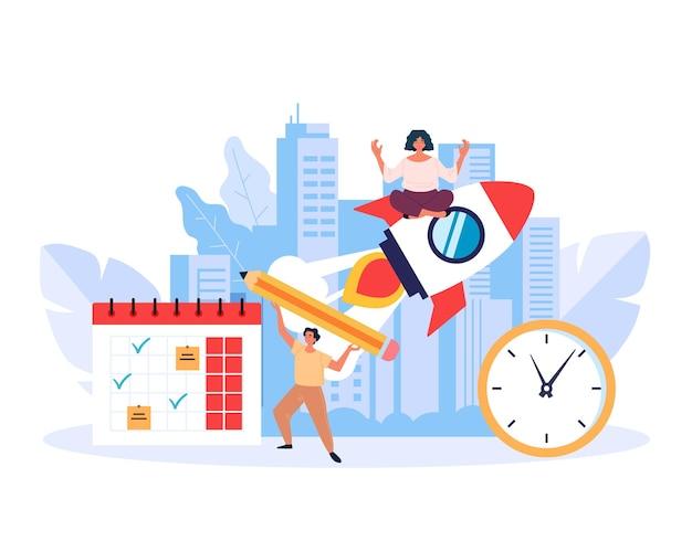 Supervisore gestione ispezione concetto piatto design grafico illustrazione