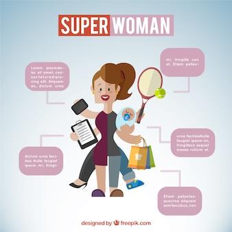 Illustrazione superwoman