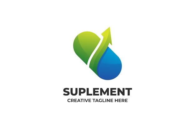 Supplemento vitamina salute medicina gradiente logo
