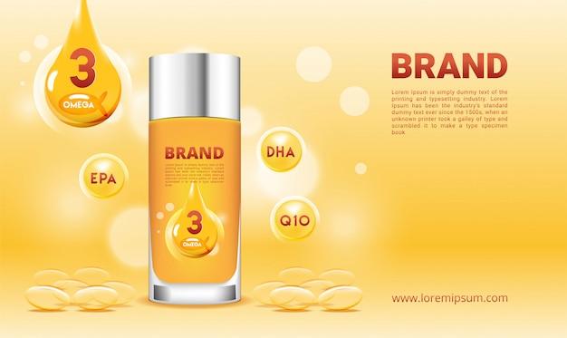 Supplementi di olio di pesce omega 3 con capsula
