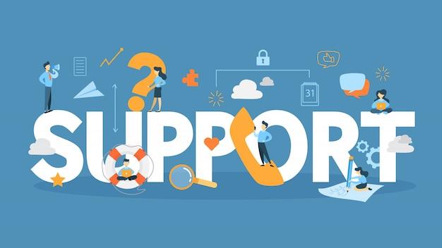 Illustrazione del concetto di supporto.