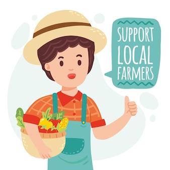 Supportare il concetto di agricoltori locali