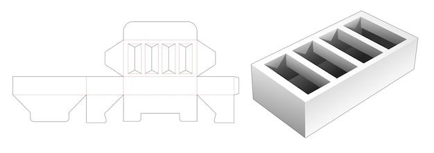 Modello fustellato della scatola del sostenitore