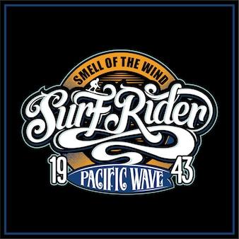 Etichetta surf rider