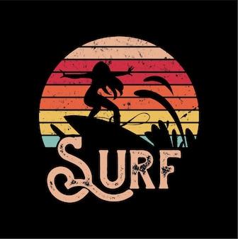 Surf sillhouete