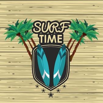 Scheda del tempo di surf