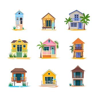 Casa del surfista o edificio sulla spiaggia del bungalow baywatch