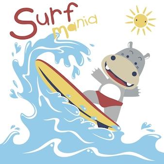 Cartone animato di surf