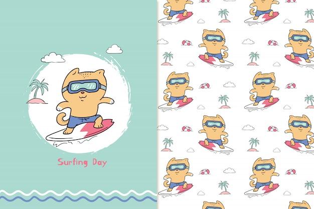 Modello di giorno di surf