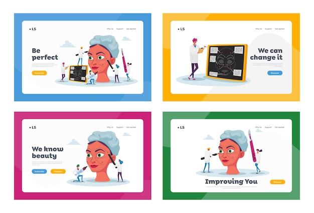 Set di modelli di pagina di destinazione della procedura di correzione chirurgica