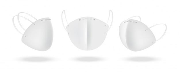 Maschera chirurgica e protezione antivirus isolate. sicurezza respiratoria, assistenza sanitaria e concetto medico.