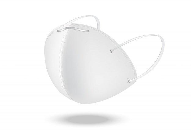 Maschera chirurgica e protezione antivirus isolate Vettore Premium