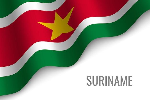 Suriname sventolando la bandiera