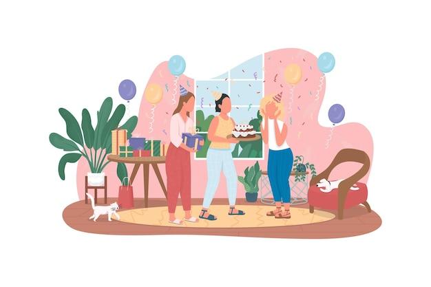 Banner web 2d, poster festa di compleanno a sorpresa