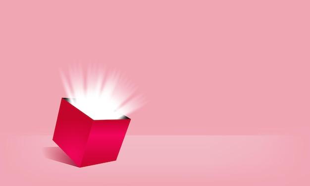 Disegno vettoriale aperto scatola sorpresa