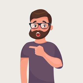 Punti sorpresi della barba della barba dei pantaloni a vita bassa